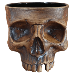 Front - Asmat Cannibal Skull - Strong Water - Iron Oxide Edition
