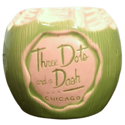 Front - Coconut Mug - Three Dots and a Dash - 1st Edition