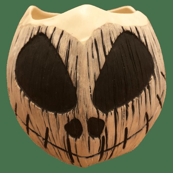 Front - Jack-O-Lantern Coconut Mug - Jungle Modern Ceramics - Jack Skellington Edition