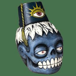 Front - Zombie Fez - Biggs Tiki - Deluxe Blue Edition