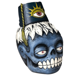 Front - Zombie Fez - Biggs Tiki - Deluxe Blue Edition