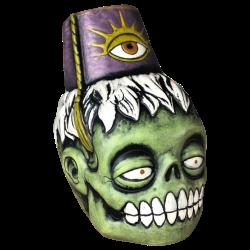 Front - Zombie Fez - Biggs Tiki - Deluxe Purple Edition