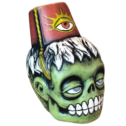 Front - Zombie Fez - Biggs Tiki - Deluxe Red Edition