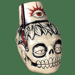 Front - Zombie Fez - Biggs Tiki - White Zombie Edition