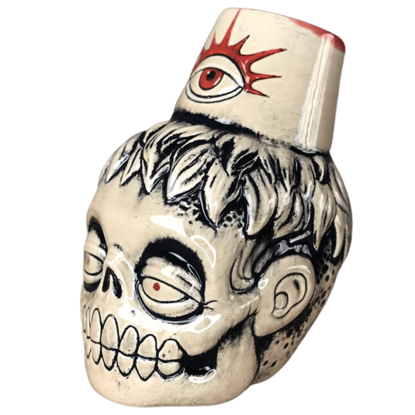 Side - Zombie Fez - Biggs Tiki - White Zombie Edition