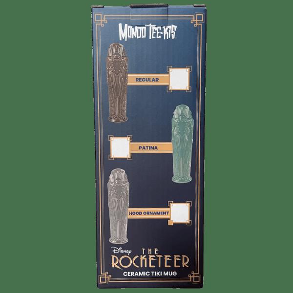 Box Back - Rocketeer Tiki Mug - Mondo - Patina Variant