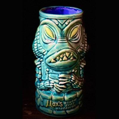 Creature Feature Tiki Mug in Blue Glaze