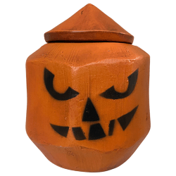 Front - Coconut Mug with Lid - Tonga Hut - All Hallows Eve Edition