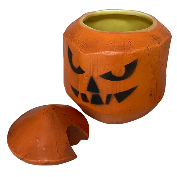 Top Removed - Coconut Mug with Lid - Tonga Hut - All Hallows Eve Edition
