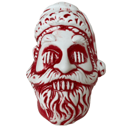 Front - Shrunken Santa - Lost Temple Traders - Candy Cane Red Edition