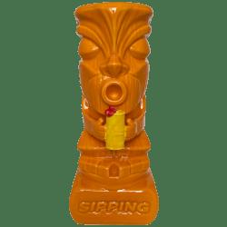 Front - Sipping Tiki Mug - BG Reynolds - Yellow (Bold Color) Edition