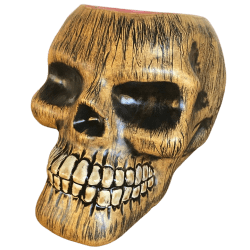 Front - Wood Skull - TikiRob - Red Interior Edition