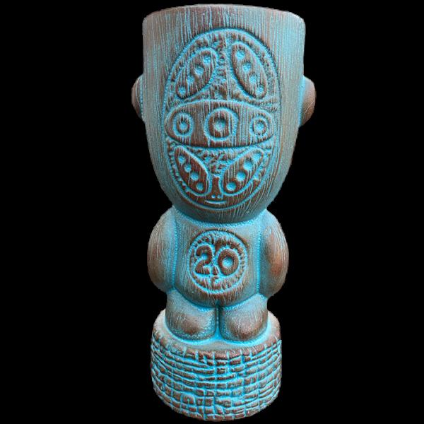 Back - Papua New Guinea 2.0 Tiki Mug - Munktiki - Teal Editio