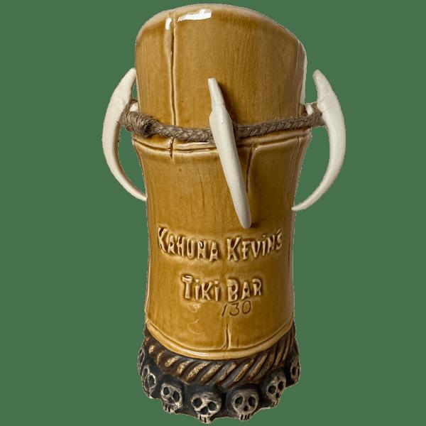 Back - Voodoo Bamboo Mug - Kahuna Kevin's Tiki Bar - Aged Brown Edition