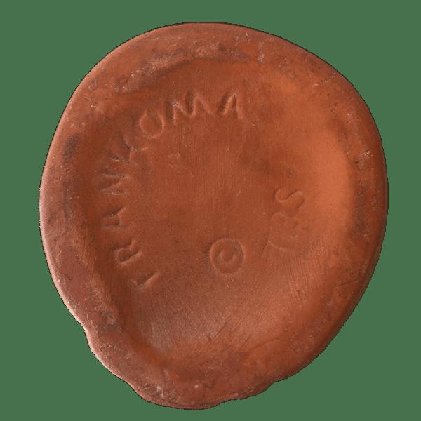 Bottom - Frankoma War God - Cultured Pearl - Brown Satin Edition