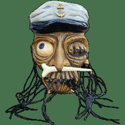 Front - Lost Captain (Shrunken Head) - Jerk Kustoms - 2019 Edition