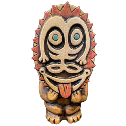 Front - PNG Mask Mug - TikiRob - Blue Eyes Edition