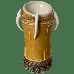 Front - Voodoo Bamboo Mug - Kahuna Kevin's Tiki Bar - Aged Brown Edition