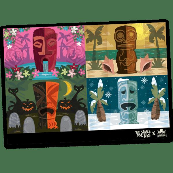 Seasons of Tiki Postcard By Corey Smith Creative