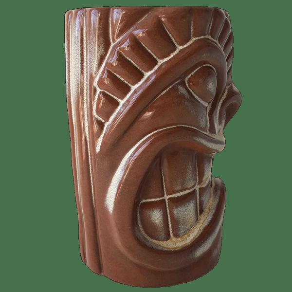 Side - Frankoma War God - Cultured Pearl - Brown Satin Edition