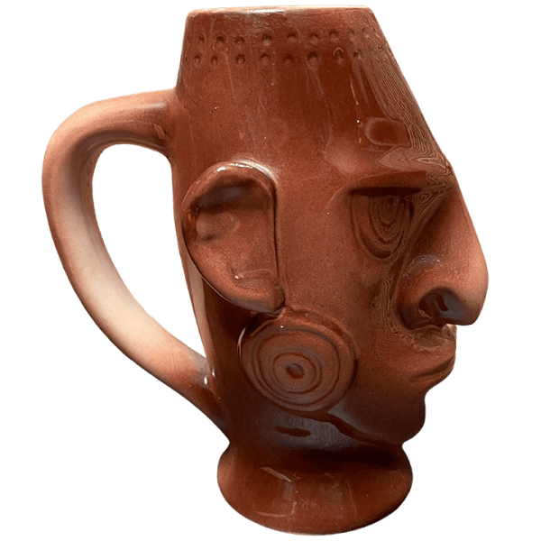 Side - Native Mug With Handle - Ren Clark's Polynesian Village - Brown Edition