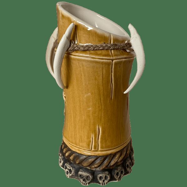 Side - Voodoo Bamboo Mug - Kahuna Kevin's Tiki Bar - Aged Brown Edition