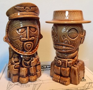 Tiki Travelers Mug Set Limited Edition in Brown