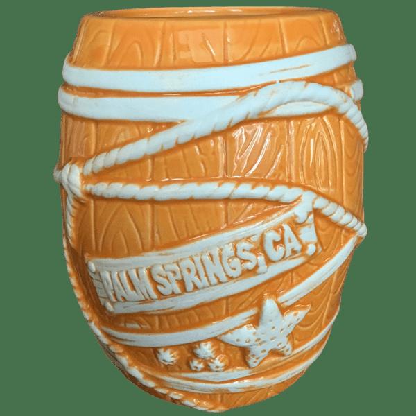Back - Big Rum Barrel - Tonga Hut Palm Springs - Orange Edition