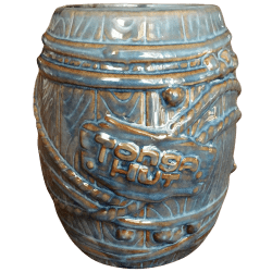 Front - Big Rum Barrel - Tonga Hut Palm Springs - Blue Edition