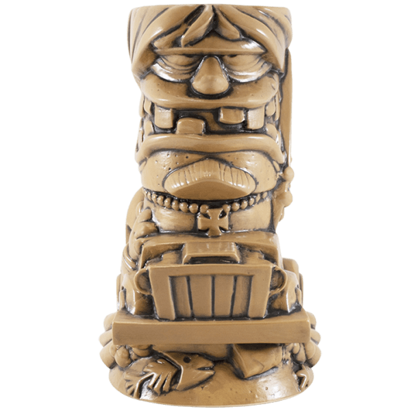 Front - Surf Gasser Mug - Tiki Farm - TanBrown Edition