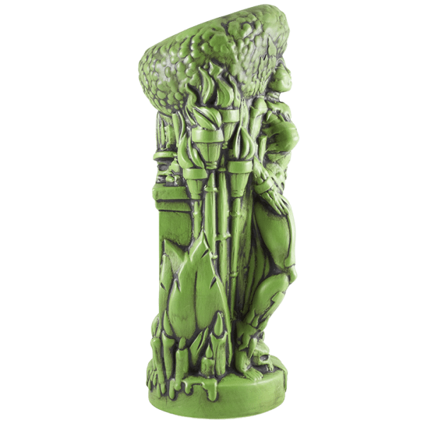 Side - Voodoo Goddess - Tiki Farm - Mardi Gras Green Edition