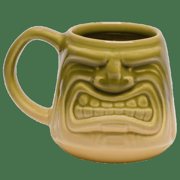 Back - Java Tiki Mug - Tiki Bauer - Chartreuse and Buttercream Edition