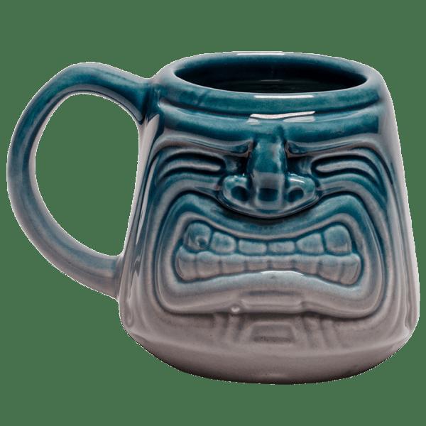 Back - Java Tiki Mug - Tiki Bauer - Teal and Granite Edition