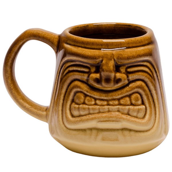 Back - Java Tiki Mug - Tiki Bauer - Warehouse Brown and Buttercream Edition