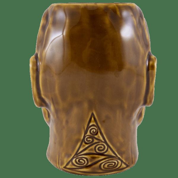 Back - Tumuaki Tiki Mug - Tiki Farm - Brown Edition