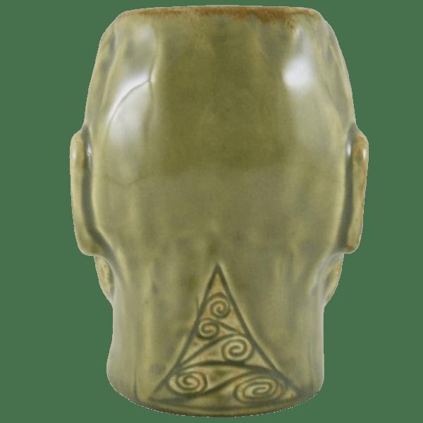 Back - Tumuaki Tiki Mug - Tiki Farm - Green Edition