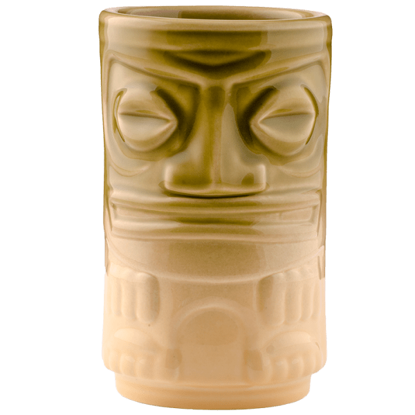 Back - Two Face Tiki - Tiki Bauer - Chartreuse and Buttercream Edition
