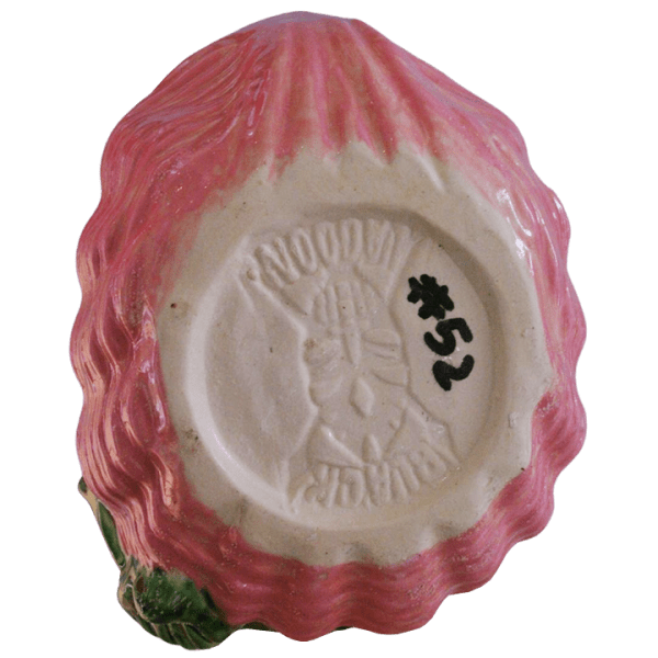 Bottom - Mermaid Shell Bath Cocktail Mug - Black Lagoon Designs - Black Hair, Green Tail, and Pink Shell Edition