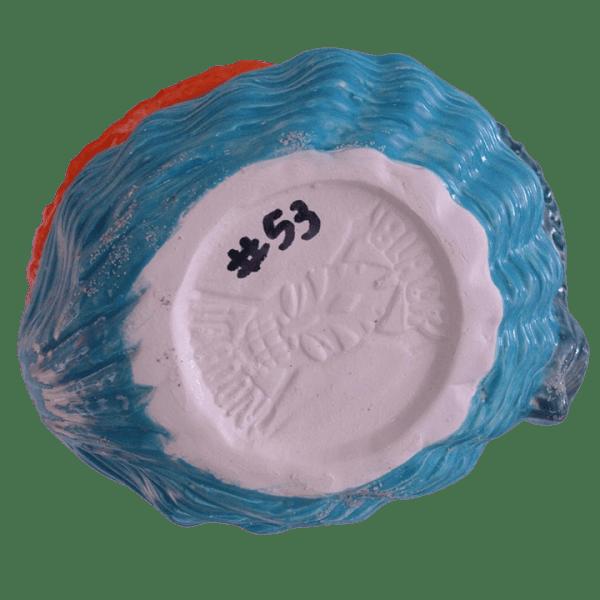Bottom - Mermaid Shell Bath Cocktail Mug - Black Lagoon Designs - Orange Hair, Blue Tail, and Blue Shell Edition