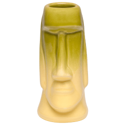 Front - Easter Island Tiki - Tiki Bauer - Chartreuse and Buttercream Edition