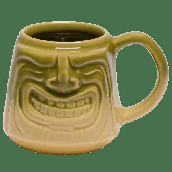 Front - Java Tiki Mug - Tiki Bauer - Chartreuse and Buttercream Edition