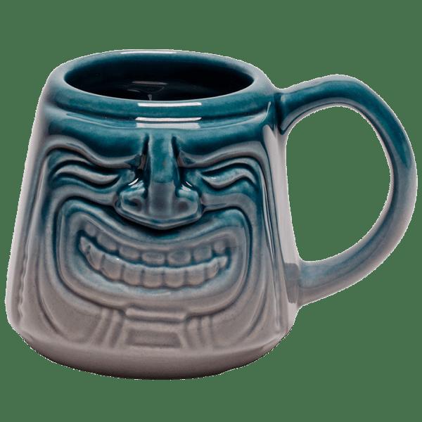 Front - Java Tiki Mug - Tiki Bauer - Teal and Granite Edition