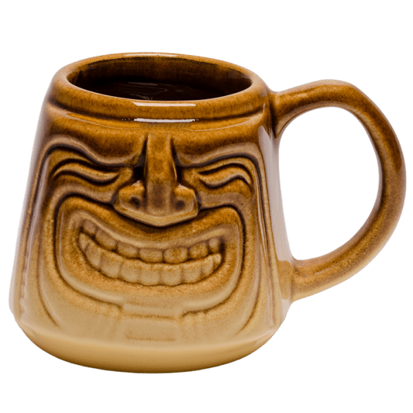 Front - Java Tiki Mug - Tiki Bauer - Warehouse Brown and Buttercream Edition
