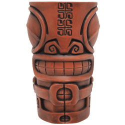 Front - Marqool Mug - Tiki Farm - Orange With A Black Wash Edition