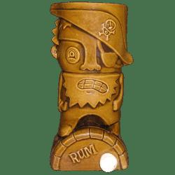 Front - Rum Barrel Pirate Mug - Tiki Oasis - Limited Edition