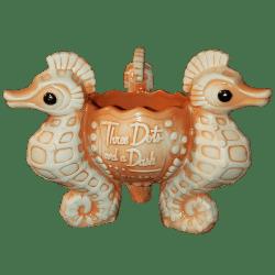 Front - Seahorse Bowl - Three Dots and a Dash - Orange Edition