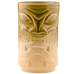 Front - Two Face Tiki - Tiki Bauer - Chartreuse and Buttercream Edition