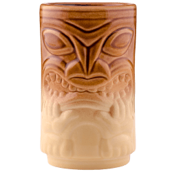 Front - Two Face Tiki - Tiki Bauer - Warehouse Brown and Buttercream Edition