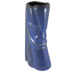 Front - Yipwon Warrior Mug - Tiki Farm - BlueBrown Dual Tone Edition
