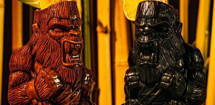 Godzilla vs Kong Tiki Mugs by Mondo